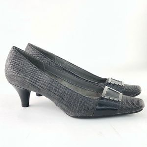 A2 Aerosoles Gray Heels Pumps Shoes with buckle